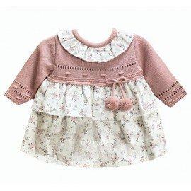 Vestido bebé niña Pompones