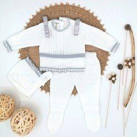 conjunto bebé lana blanco casa de pepito