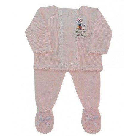 Conjunto bebe de perle gavidia rosa