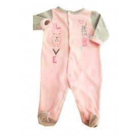 Pijama invierno rosa y gris pillerias