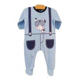 Pijama azul perro gafas