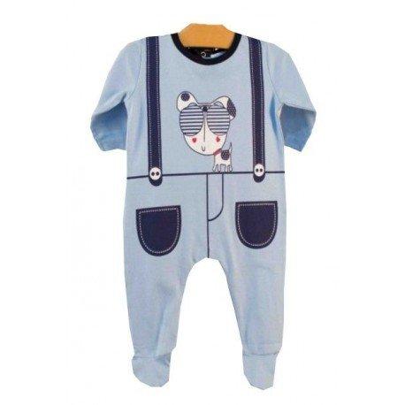 pijama azul perro gafas pillerias