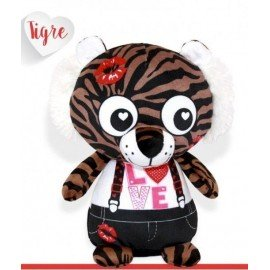 Peluche 25 cm tigre love
