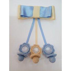Chupetes artesanales para bebe hilo