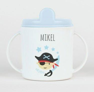 taza pirata azul personalizada bebe tienda neonatos