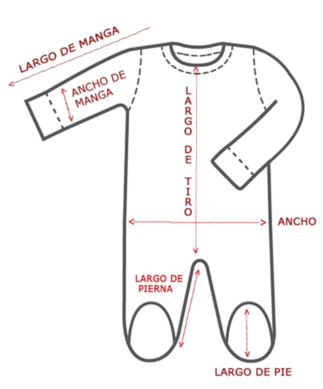 Tipo de medidas de pijama bebe